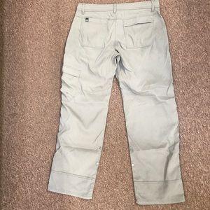 Prana Stretch Zion Pants Light Khaki Med Waist 30L